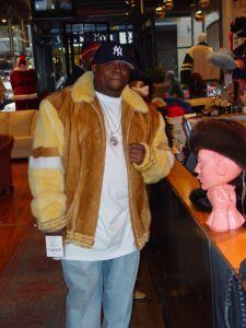 Scarface Whiskey Yellow Mink Mens Fur Jacket Image
