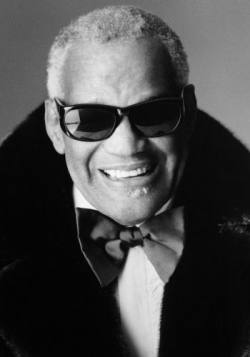Ray Charles Looking Dapper in His very own Blackglama Mink Coat