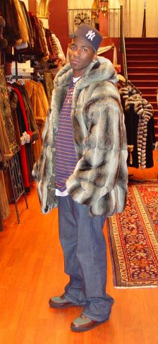 Marc Kaufman Furs Presents a men's chinchilla fur jacket with hood from Marc Kaufman Furs New York,Fur coats in Argentina, fur coats in Chile, fur coats in Venezuela, fur coats in Australia, fur coats in Belgium,fur coats in Netherlands, fur coats in Norway,fur coats in Sweden,fur coats in Dubais,fur coats in Egypt,fur coats in Egypt,fur coats in Kuwait, fur coats in South Africa,fur coats in Tunisia,fur coats in the Falklands