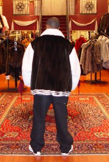 Black White Mans Mink jacket