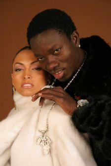 Michael Blackson Ranch Mink Jacket Egypt White Mink Jacket