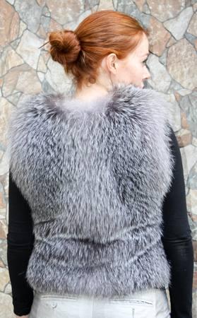 Saga Indigo Fox Fur vest