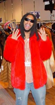 LIl Jon Red Mink Bomber Fur Jacket