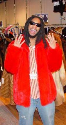 LIl Jon Red Mink Bomber Fur Jacket
