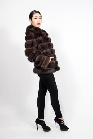 Russian Sable Fur Jacket Horizontal Marc Kaufman Furs NYC