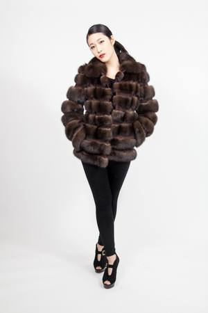 Russian Sable Fur Jacket Horizontal Marc Kaufman Furs NYC