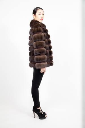 Russian Sable Fur Jacket Horizontal