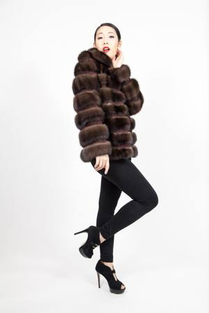 fabulous Russian Sable Fur Jacket Horizontal