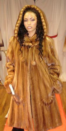 Sexy Designer Whiskey Mink Swing Fur stroller Inserted Swirls Hood fringes