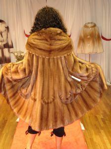 Designer Whiskey Mink Swing Fur stroller Inserted Swirls