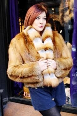 Marc Kaufman Furs presents a short red fox fur jacket from Marc Kaufman Furs New York City,Fur coats in Baltimore, fur coats in Chicago, fur coats in Detroit, fur coats in Los Angeles, fur coats in Detroit, fur coats in orange county, fur coats in Atlanta, fur coats in Denver, fur coats in Dallas, fur coats in Seattle, fur coats in Portland, fur coats in Santiago, fur coats in Portugal, fur coats in Madrid