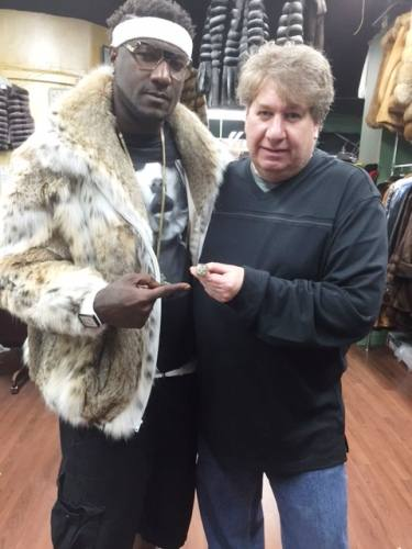 Jamal Brown Cat Lynx Fur Bomber Jacket
