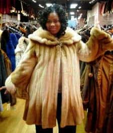 Ms Jones Hot 97 Wearing marc Kaufman Furs Mink Stroller