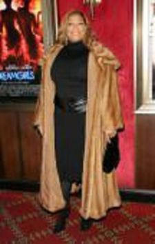 Queen Latifah Wearing Wild Mink Fur Coat Caped Collar