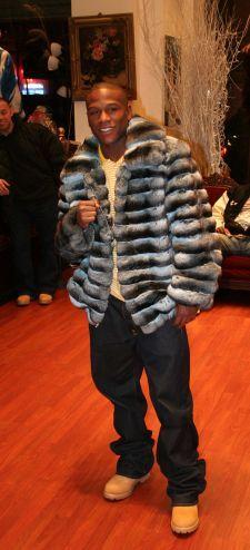 Floyd Mayweather Blue Chinchilla Fur Jacket Image