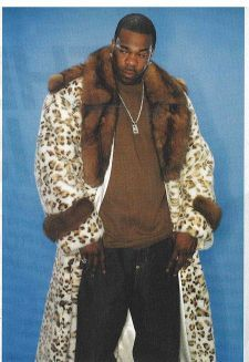 Busta Rhymes Spotted Mans Mink Coat Sable Collar
