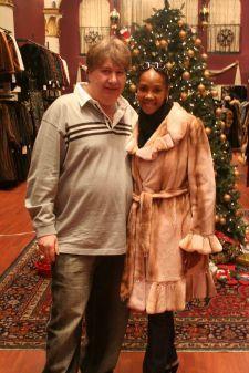 Vivica Fox Marc Kaufman Furs Pink Mink Fur Stroller Image