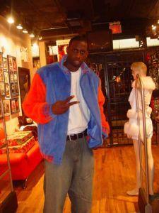 Tim Thomas Wearing Blue Orange Mink Fur Jacket