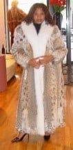 American Lynx Fur Coat White Fox Fur Tuxedo