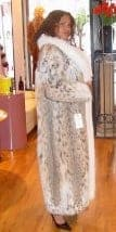 American Lynx Fur Coat White Fox Fur Tuxedo Coldest Winter