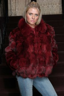 Marc Kaufman Furs Presents a burgundy fox fur puffy jacket from Marc Kaufman Furs New York,Argentina,United Kingdom,Austria,Denmark,Norway,Australia,Finland,Saudi Arabia,Oman,Kuwait,Jordan,Egypt