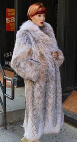 Amazing Full Length Canadian Lynx fur Coat Shawl Collar Ski aspen Vail Park city Utah wholesale furs