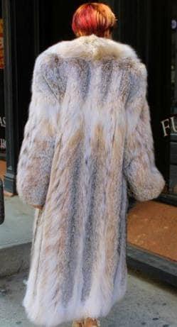 Amazing Full Length Canadian Lynx fur Coat Shawl Collar Ski aspen Vail Park city Utah