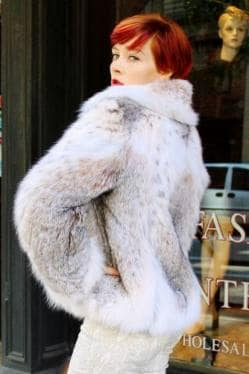 Canadian Lynx Fur Jacket Cold Chicago Freezing Paramus New Jersey, NYC Fur Store