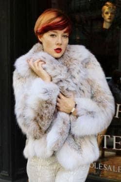 Soft Canadian Lynx Fur Jacket