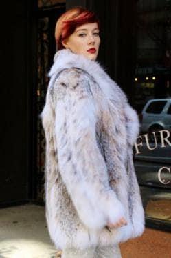 Fluffy Canadian Lynx Fur Stroller Fur Store NYC Ski Jacket where