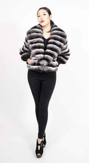 Marc Kaufman Furs presents a horizontal chinchilla fur jacket with large shawl collar from Marc Kaufman Furs USA,Fur coats in Argentina, fur coats in Chile, fur coats in Venezuela, fur coats in Australia, fur coats in Belgium,fur coats in Netherlands, fur coats in Norway,fur coats in Sweden,fur coats in Dubais,fur coats in Egypt,fur coats in Egypt,fur coats in Kuwait, fur coats in South Africa,fur coats in Tunisia,fur coats in the Falklands
