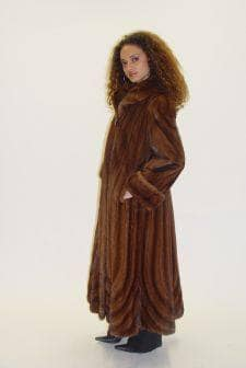 Simple Demi Mink Petite Fur Coat Directional