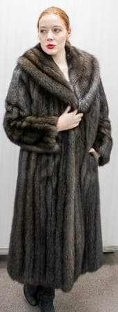 Russian Sable Fur coat Full Length Shawl Collar