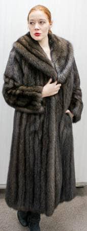 Russian Sable Fur coat Full Length Shawl Collar