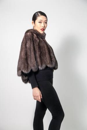 Russian Sable Fur Evening Cape