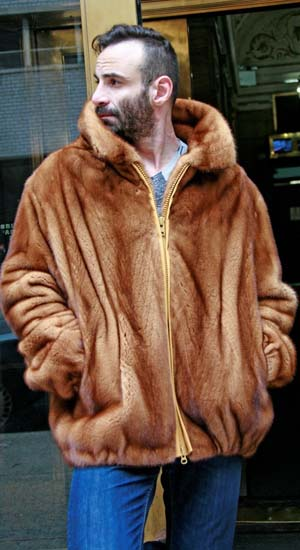 06672c58ac Marc Kaufman Furs presents a whiskey men s mink bomber fur jacket from Marc  Kaufman Furs New