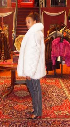 Marc Kaufman Furs presents a blue fox fur jacket with white fox fur trim from Marc Kaufman Furs New York,Fur coats in Baltimore, fur coats in Chicago, fur coats in Detroit, fur coats in Los Angeles, fur coats in Detroit, fur coats in orange county, fur coats in Atlanta, fur coats in Denver, fur coats in Dallas, fur coats in Seattle, fur coats in Portland, fur coats in Santiago, fur coats in Portugal, fur coats in Madrid