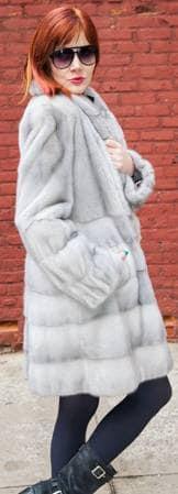 Sapphire Mink Fur Stroller Horizontal Body 6655
