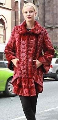 Marc Kaufman Furs Presents a burgundy lazar cut mink fur stroller from Marc Kaufman Furs New York,Argentina,United Kingdom,Austria,Denmark,Norway,Australia,Finland,Saudi Arabia,Oman,Kuwait,Jordan,Egypt