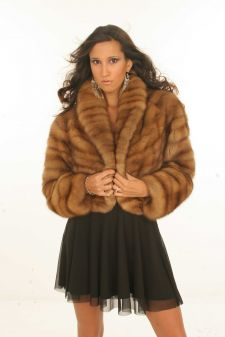 Canadian Sable Fur Jacket 734 Description: Canadian Sable Fur Jacket