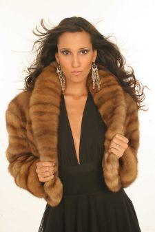 Dressy Canadian Golden Sable Fur Jacket