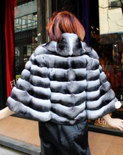 Marc Kaufman Furs presents this horizontal chinchilla fur bolero jacket from Marc Kaufman Furs New York City,Fur coats in Argentina, fur coats in Chile, fur coats in Venezuela, fur coats in Australia, fur coats in Belgium,fur coats in Netherlands, fur coats in Norway,fur coats in Sweden,fur coats in Dubais,fur coats in Egypt,fur coats in Egypt,fur coats in Kuwait, fur coats in South Africa,fur coats in Tunisia,fur coats in the Falklands