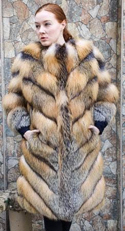 Marc Kaufman Furs presents a diagonal cross fox fur vest from Marc Kaufman Furs New York City,Fur coats in Baltimore, fur coats in Chicago, fur coats in Detroit, fur coats in Los Angeles, fur coats in Detroit, fur coats in orange county, fur coats in Atlanta, fur coats in Denver, fur coats in Dallas, fur coats in Seattle, fur coats in Portland, fur coats in Santiago, fur coats in Portugal, fur coats in Madrid