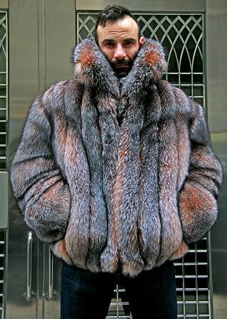Marc Kaufman Furs Presents a mens crystal fox fur bomber jacket from Marc Kaufman Furs New York,Argentina,United Kingdom,Austria,Denmark,Norway,Australia,Finland,Saudi Arabia,Oman,Kuwait,Jordan,Egypt