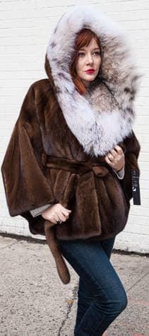 Marc Kaufman Furs Presents a demi mink fur cape with canadian lynx fur hood from Marc Kaufman Furs New York,Argentina,United Kingdom,Austria,Denmark,Norway,Australia,Finland,Saudi Arabia,Oman,Kuwait,Jordan,Egypt