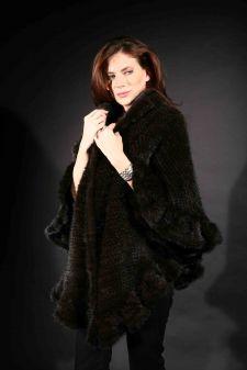 Marc Kaufman Furs Presents a mahogany knit mink fur cape from Marc Kaufman Furs New York,Argentina,United Kingdom,Austria,Denmark,Norway,Australia,Finland,Saudi Arabia,Oman,Kuwait,Jordan,Egypt