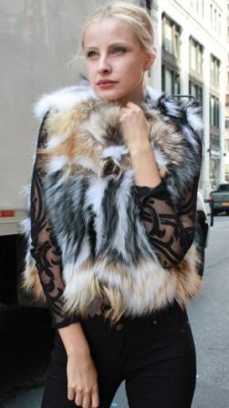 Amazing Multi Colored Fox Fur Vest 88233 Image