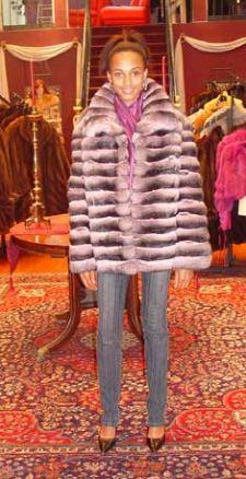 Marc Kaufman Furs presents a horizontal pink chinchilla fur jacket from Marc Kaufman Furs New York, Fur coats in Argentina, fur coats in Chile, fur coats in Venezuela, fur coats in Australia, fur coats in Belgium,fur coats in Netherlands, fur coats in Norway,fur coats in Sweden,fur coats in Dubais,fur coats in Egypt,fur coats in Egypt,fur coats in Kuwait, fur coats in South Africa,fur coats in Tunisia,fur coats in the Falklands