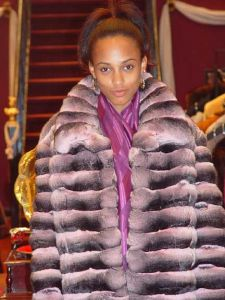 Marc Kaufman Furs presents a horizontal pink chinchilla fur jacket from Marc Kaufman Furs New York, Fur coats in Argentina, fur coats in Chile, fur coats in Venezuela, fur coats in Australia, fur coats in Belgium,fur coats in Netherlands, fur coats in Norway,fur coats in Sweden,fur coats in Dubais,fur coats in Egypt,fur coats in Egypt,fur coats in Kuwait, fur coats in South Africa,fur coats in Tunisia,fur coats in the Falklands
