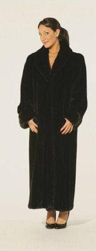 Classic Designer Ranch Mink Fur Coat Shawl Collar Turn Back Cuffs